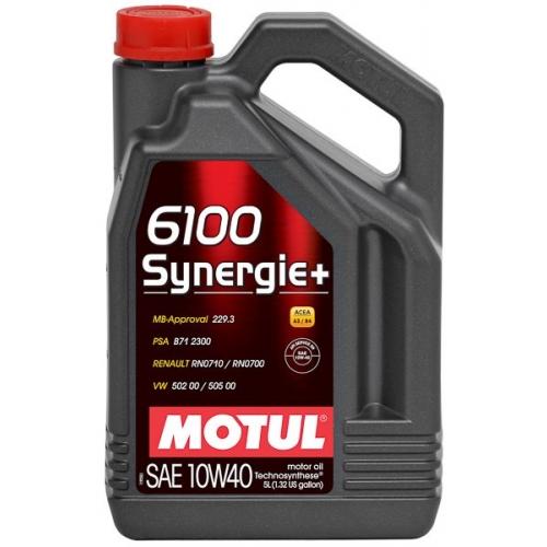 MOTUL 6100 Synergie + 10W-40, 4 литра