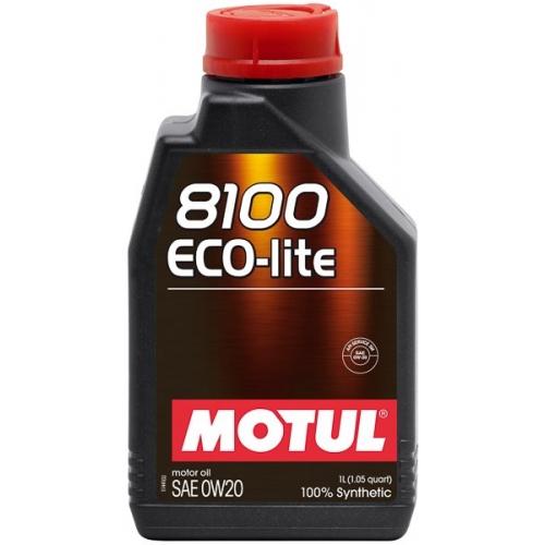 MOTUL 8100 Eco-lite 0W-20, 1 литр