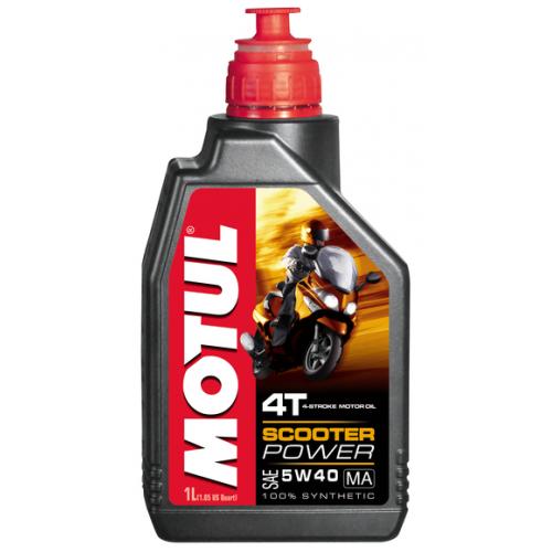 MOTUL Scooter Power 4T MA 5W-40, 1 литр