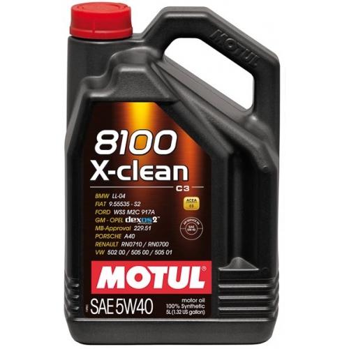 MOTUL 8100 X-clean 5W-40 (C3), 5 литров