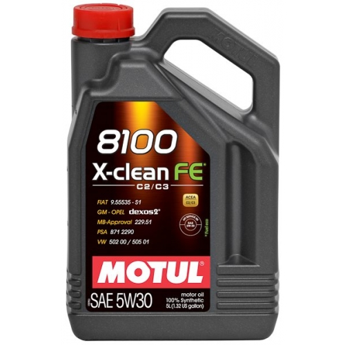 MOTUL 8100 X-clean FE 5W-30, 5 литров