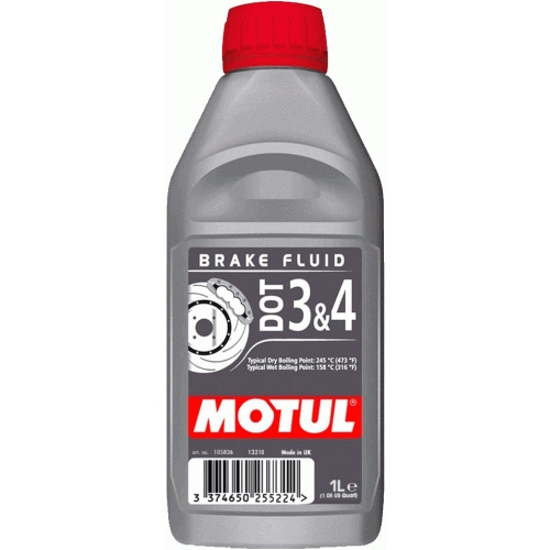 MOTUL DOT 3 & 4 Brake Fluid, 1 литр