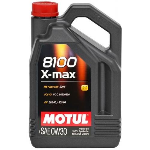 MOTUL 8100 X-max 0W-30, 5 литров