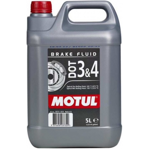 MOTUL DOT 3 & 4 Brake Fluid, 5 литров