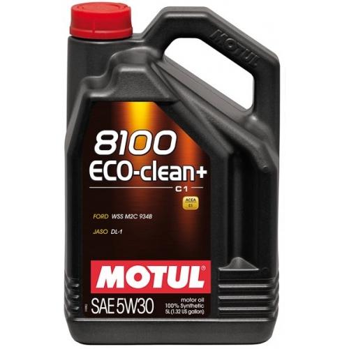 MOTUL 8100 Eco-clean+ 5W-30 (C1), 5 литров