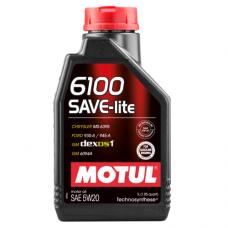 MOTUL 6100 SAVE-lite 5W-20, 1 литр
