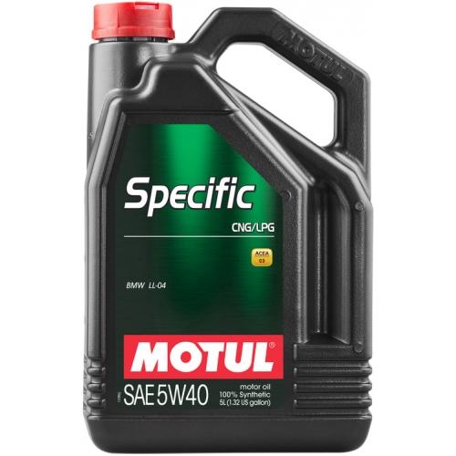MOTUL Specific CNG/LPG 5W-40, 5 литров