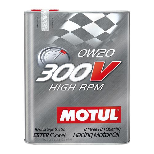 MOTUL 300V High RPM 0W-20, 2 литра