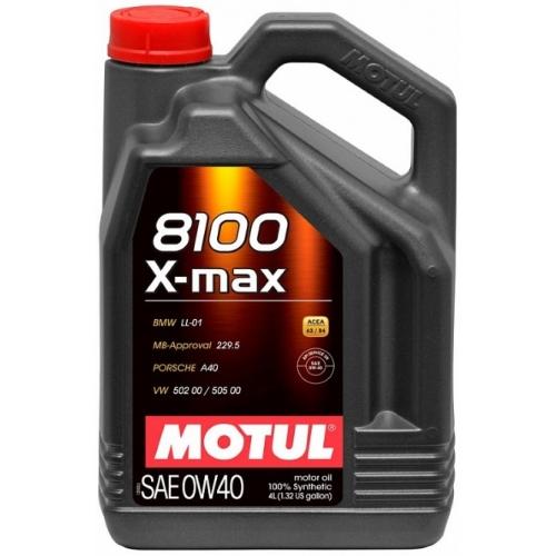 MOTUL 8100 X-max 0W-40, 4 литра