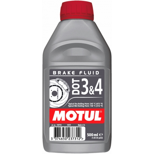 MOTUL DOT 3 & 4 Brake Fluid, 0.5 литра