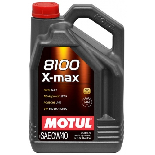 MOTUL 8100 X-max 0W-40, 5 литров