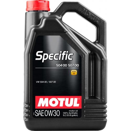 MOTUL Specific 504 00 / 507 00 0W-30, 5 литров