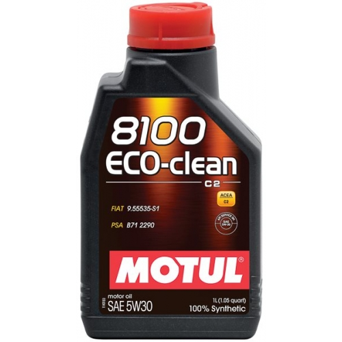 Motul 8100 Eco-clean 5W-30 (C2), 1 литр