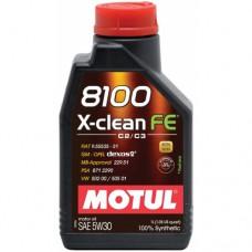 MOTUL 8100 X-clean FE 5W-30, 1 литр