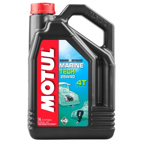 MOTUL MARINE TECH 4T 25W-40, 5 литров