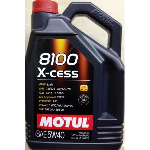 MOTUL 8100 X-cess 5W-40, 4 литра