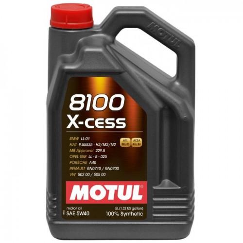 MOTUL 8100 X-cess 5W-40, 5 литров
